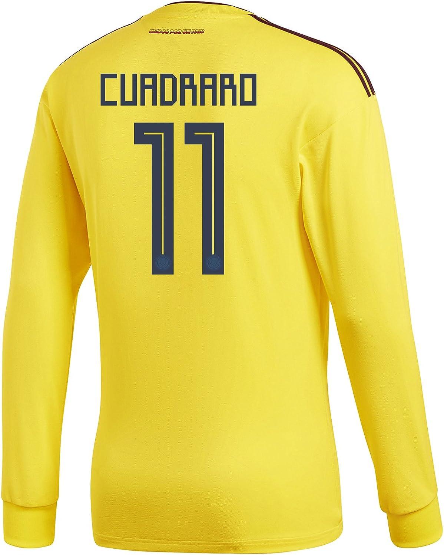 Adidas CUADRADO  11 Colombia Home Men's Long Sleeve Soccer Jersey World Cup 2018