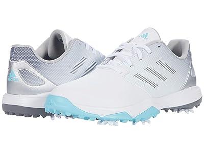 adidas Golf Jr. ZG21 (Little Kid/Big Kid) (White/Grey Four/Hazy Sky) Golf Shoes