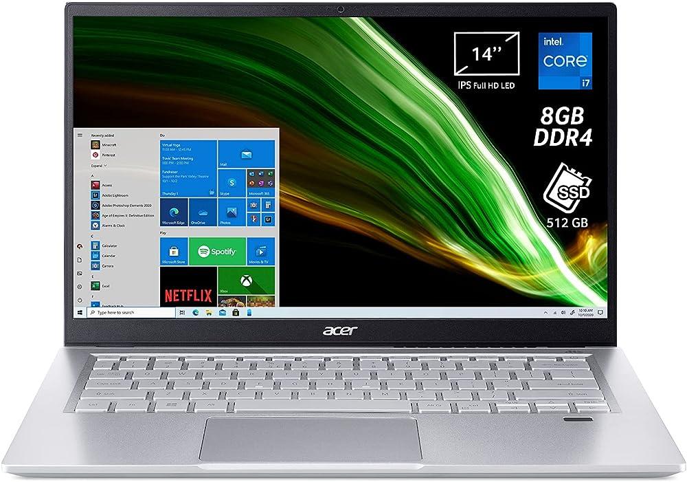 Acer pc portatile intel core i7 scheda grafica intel iris xe ram 8 gb ddr4 512 gb pcie nvme ssd NX.ABLET.00C
