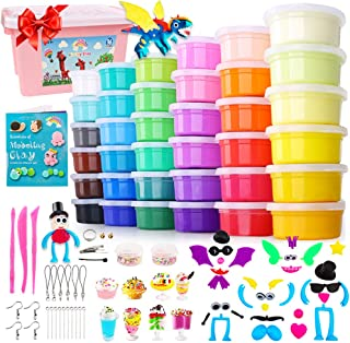 HOLICOLOR 36 Colors Air Dry Clay Kit Magic Modeling Clay for Kids with Accessories, Tools..