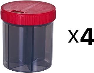 Progressive Vitamin/Pill Organizer 6 Compartments With 4 Oz Capacity (4-Pack)