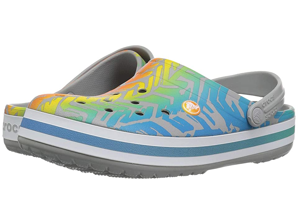 Crocs Crocband Graphic III Clog (Multi/Light Grey) Shoes