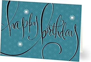 Hallmark Business Birthday Card for Employees (Retro Stars) (Pack of 25 Greeting Cards)