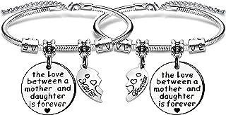 """Angelra Regali della Festa della Mamma Braccialetto Figlia Bracciale Donna""""The Love Between Mother and Daughter is Forever..."""