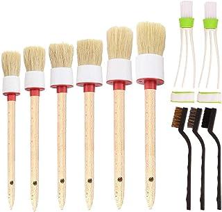 Bingcute 11 Pcs Car Detailing Brush Set for Cleaning Auto Interior - Including 6 pcs Detail Brush, 3 pcs Wire Brush, 2 pcs...