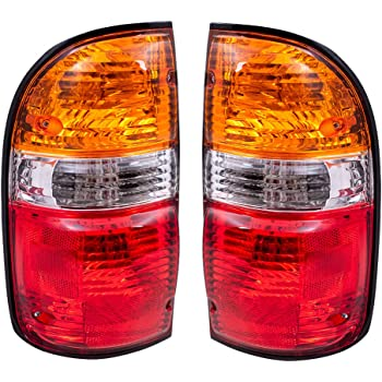 Exerock Right Passenger Side Tail Light Lamp Assembly Compatible with 2001 2002 2003 2004 Toyota Tacoma Pickup Truck