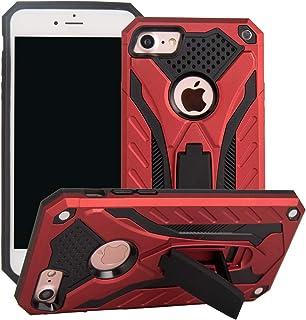 MUTOUREN Funda para iPhone SE 2020/iPhone 8/iPhone 7 con Gratis [Vidrio Templado], Anti-Choque Carcasa Silicona TPU + PC D...