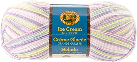 Lion Brand Yarn 922-201 Ice Cream Big Scoop Yarn, Cotton Candy