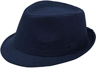 Men's Classic Manhattan Structured Trilby Fedora Hat