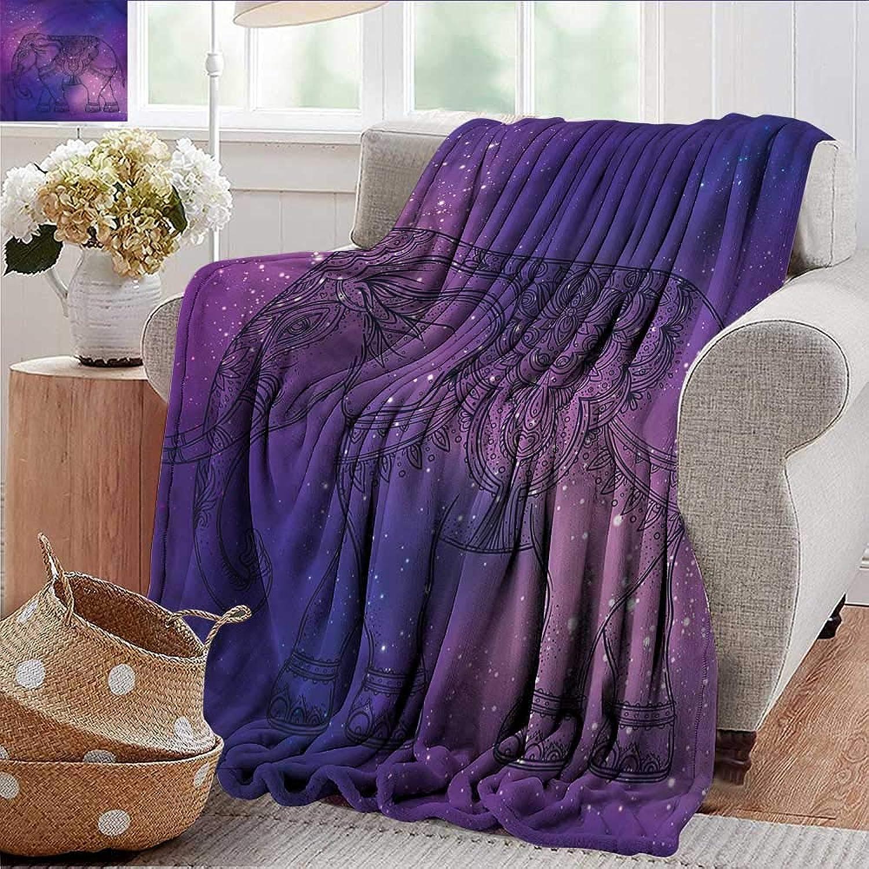 Xaviera Doherty Summer Blanket Elephant Mandala,Guardian Animal Weighted Blanket for Adults Kids, Better Deeper Sleep 35 x60