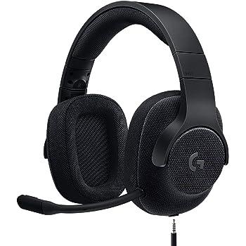 Logitech G433 kabelgebundenes Gaming-Headset, 7.1 Surround Sound, DTS Headphone:X, 40mm Treiber, USB-Anschluss & 3.5mm Klinke, Abnehmbares Mikrofon, PC/Mac/Xbox One/PS4/Nintendo Switch, Schwarz