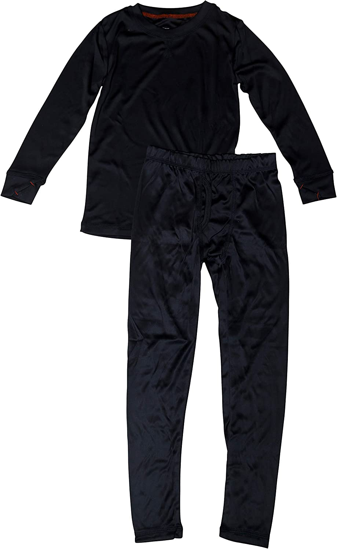 Al /& Ema Boys Crew Neck Pant Base Layer Thermal Pajama Set