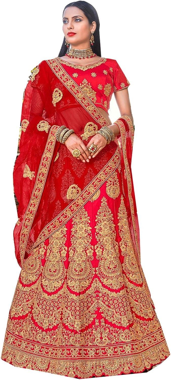 Dessa Collections Indian Women Designer Partywear Ethnic Traditional Red Lehenga Choli.