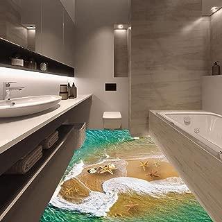 Vacally 3D Bridge Stream Floor Wall Stickers Removable Mural Decals Vinyl Art Living Room Bedroom Home Decor