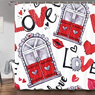 Best red lips shower curtain Reviews
