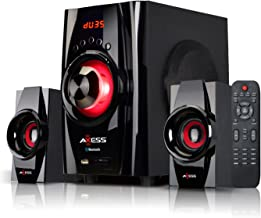 AXESS Bluetooth Mini System 2.1-Channel Home Theater Speaker System Red (MSBT3901)