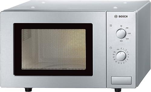 Bosch Electroménager HMT72M450 Série 2, Micro-ondes Pose-libre, 46 x 29 cm, 800 W, 5 puissances, Bouton rotatif - Ino...