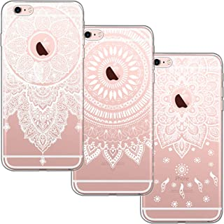 9e11bdacc5e [3 Pack] Funda iPhone 6, Funda iPhone 6S, Blossom01 Funda Ultrafina Suave