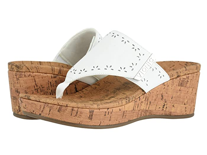 VIONIC  Anitra (White Leather) Womens Shoes