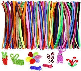 MumooBear 200pcs Montessori Materials Chenille Children Educational Toy Crafts For Kids Colorful Pipe Cleaner Toys Craft