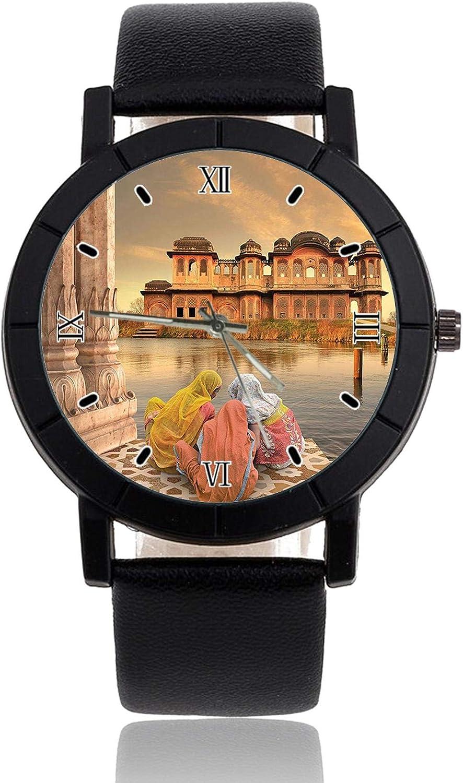 Reloj de Pulsera Oriental para niñas con Correa de Piel, Reloj Casual para Hombre