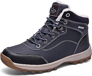 Bottes d'hiver pour homme - Doublure chaude en fourrure - Chaussures de marche décontractées - Bottes de neige et de rando...