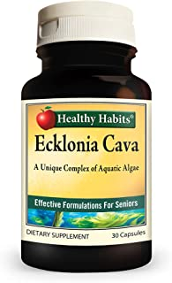 Healthy Habits Ecklonia Cava — All-Natural High Potency Fat-Soluble Antioxidant and Cardiovascular Health Supplement (30-C...