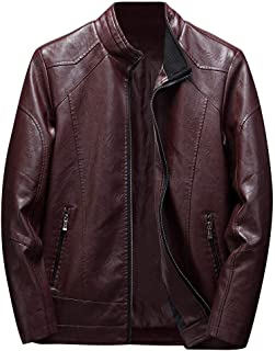 Ayesha Mens Leather Jackets Motorcycle Bomber Biker Genuine Lambskin 85