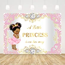 Yeele Little Princess Backdrop Black Girl Baby Shower Cute Ethnic Africa Kids Photography Background 10x8ft Birthday Decoration Pink Studio Newborn Props Cake Smash Party Photo Shoot Backdrop Banner