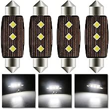 4 unidades TKD 39mm C5W LED Canbus 4014 20SMD 6000K Luz Interior de Coche Fest/ón L/ámpara Blanco Numero de Canbus luz de la placa del adorno de la boveda del bulbo de 12V