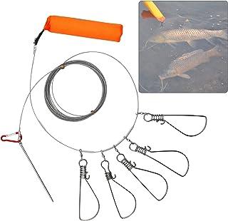 Angeln Stringer Clip Fisch Lock Edelstahl Draht Rope Lanyard Live Fische Lock mit Float 5/Metall Snaps