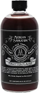 McClary Bros Drinking Vinegars, Michigan Sasktoon - Hand-Crafted With Premium Ingredients, Ideal for Shrub Cocktails, Sodas and Cooking - Naturally Flavored Organic Apple Cider Vinegar, 16oz Bottle