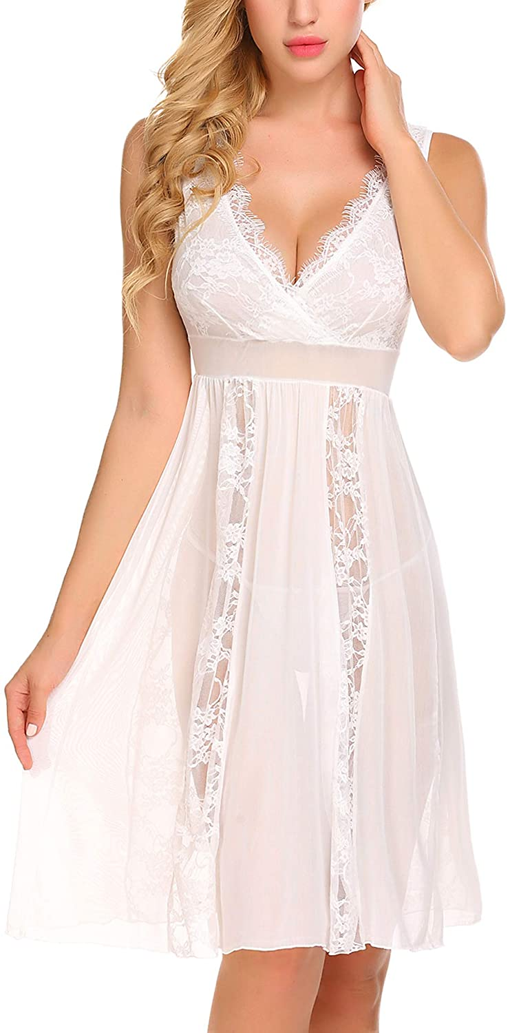 Avidlove Babydoll Lingerie for Women Sexy Nightgowns for Bride Lace Chemise Lingerie Nighty