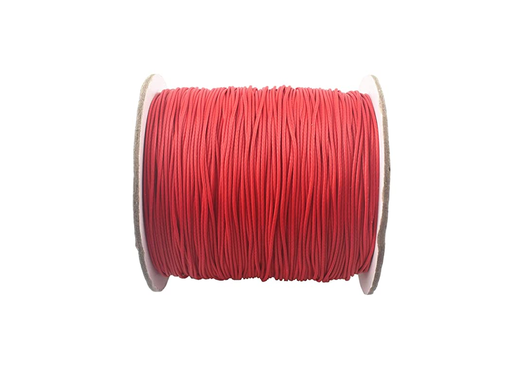 QIANHAILIZZ 150 Yards 0.5 mm Waxed Jewelry Making Cord Waxed Beading String Craft DIY Thread LXX120601805 (red) ajhbobm92