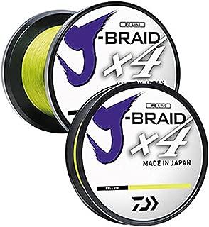 Daiwa JB4U20-300FY J-Braid 4X Filler Spool Fluorescent Yellow, 300Yds, 20 lb. Test