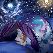Yeahs Shop Kids Dream Bed Tent - Magical Bed Tent Pop up Playhouse Castles for Birthday Party Room Decor Boys & Girls (Winter Wonderland)