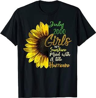 Womens July Girls 2000 Shirt 19th Birthday Gifts T-Shirt