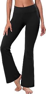 "BUBBLELIME 29""/31""/33""/35"" 3 Styles Women High Waist Bootcut Yoga Pants Basic/Back Pocket/Straight Leg Soft Workout Flare"