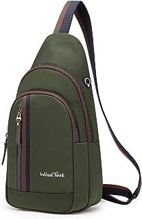 Wind Took bolsa bandolera mochila pequeña bolso pecho hombre y mujer bolso hombro bolso desportiva mochila de ocio multipr...