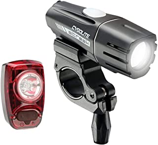 Cygolite Streak 450 Lumen Headlight & Hotshot SL 50 Lumen Tail Light USB Rechargeable Bike Light Combo Set