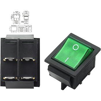 1/_Pack 16A LAQI Interruptor basculante con Control DPST de Encendido y Apagado Interruptor de Cable en l/ínea para l/ámpara de Mesa de Dormitorio 16 A Color Blanco de 250 V luz de Escritorio