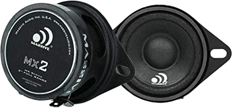 "Sponsored Ad - Massive Audio MX2-2 Inch / 20-Watt Full Range Speakers. (2.5"" Mounting Hole) (2"" Drop-in) Full Range Speake... photo"