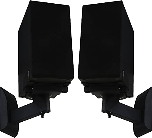 WALI Dual Side Clamping Bookshelf Speaker Wall Mounting Bracket for Large Surrounding Sound Speakers, Hold up to 55 l...
