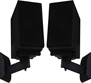 WALI Dual Side Clamping Bookshelf Speaker Wall Mounting Bracket for Large Surrounding Sound Speakers, Hold up to 55 lbs. (...