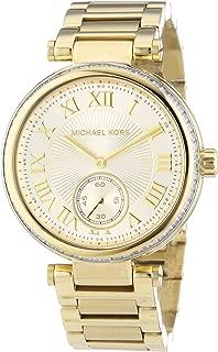 MK5867 Women's Skylar Champagne Dial Gold-Tone Stainless Steel Bracelet Watch