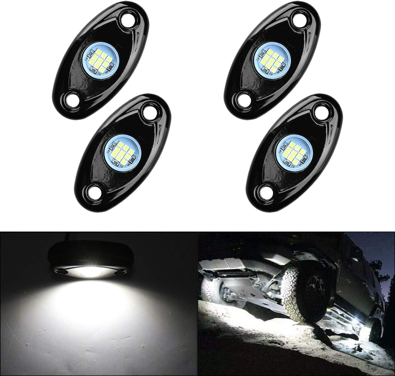 LED Rock Lights trend rank Ranking TOP7 4 Pods Lychee Underglow f Light Waterproof Neon