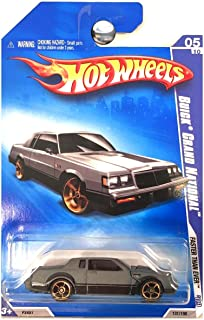 Hot Wheels 2009 05 of 10 gray BUICK GRAND NATIONAL faster then ever '09 131/190 1:64 Scale Die-cast Collectible Car