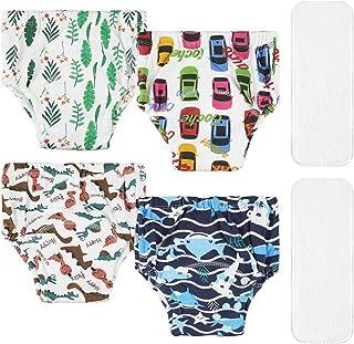 Lictin 4 Pezzi Mutandine di Apprendimento - 2 Pezzi Pannolini riutilizzabili con Pantaloni da Allenamento vasino a 7 Strat...