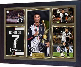 S&E DESING Foto/Bild, Cristiano Ronaldo Real Madrid, signiert, gerahmt.