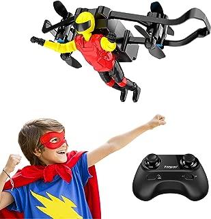 Mini Drone, Tomzon U48-B Super Hero, RC Stunt Doll with Paraglider Flight, One Key Demo, Altitude Hold, Nano RC Quadcopter for Kids